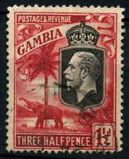Gambia 1922-9 SG#125, 1.5d Bright Rose Scarlet Perf(b) KGV P14x13.8 Used #D27444