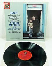 "NM EMI digital LP - BACH / Menuhin - Jin Li ""Double Violin Concerto"" London SO"