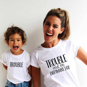 Trouble Mother and Daughter tshirts /Mothers day matching t shirt /women tshirt