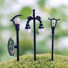 5PCS Garden Fairy Dollhouse Decor Miniature Streetlight Craft Plant Pot Decor