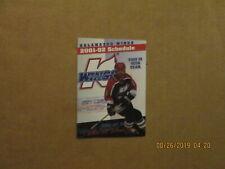 Uhl Kalamazoo Wings Vintage Circa 2001-02 Team Logo Hockey Pocket Schedule