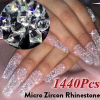 1440Pcs Crystal Zircon Rhinestone 3D Jewelry Glass Diamond Nail Art Decoration