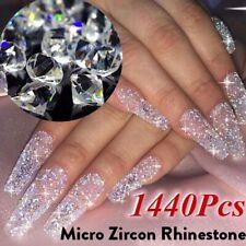 3D Crystal Pixie Nail art Micro Zircon Mini Rhinestone 3D Tips DIY Decoration