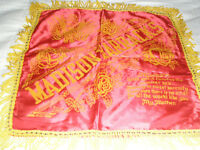 Vintage Souvenir Pillow Sham Madison Barracks Satin Fringed