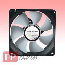 GELID SILENT 8 cm 80mm PWM 4-pin Intelligent Low Noise Rubber Mount PC Case Fan