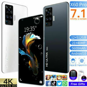 X60 Pro 7.1inch Smartphone Android 10.0 Unlocked 12+512GB 5000mAh Mobile Phone