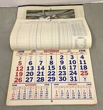 Vintage 1948 Calender Nelson's Auto Service Welding Palmero Maine ME South China