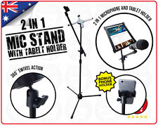 Microphone & Tablet Stand 2 in1 Mic & Phone Mount Holder Adjustable iPad IP-70B