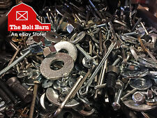 10 Lbs - Assorted Miscellaneous Bolts Screws Nuts Washers Pins Anchors + More