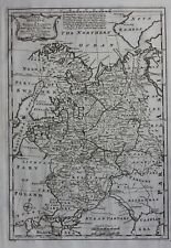 Antique atlas map RUSSIA IN EUROPE 'MOSCOVY', BALTIC SEA, Emanuel Bowen, 1747