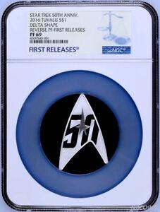2016 Star Trek 50th Anniversary 1oz Silver Reverse Proof DELTA Coin NGC PF69 FR