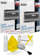 2x Vivitar LP-E6 Battery + CLEAN KIT for Canon 5D Mark IV, 6D, 60D, 7D, 70D, 80D