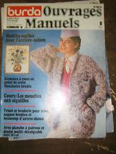 Burda Ouvrages manuels N° 8 Août 1979 Maille Mouches aux aiguilles Patron Tricot