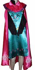 Eiskönigin Elsa Kostüm Kleid Frozen Gr.134 Blaugrün Pink Mantel Krönung Karneval