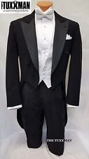 44 R Fulldress Tailcoat Formal Mens Black Gatsby Tuxedo MARDI GRAS Ball TUXXMAN