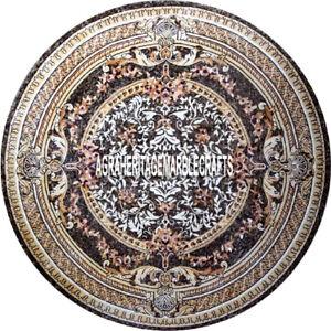 Italian Marble Restaurant Table Pietradura Inlaid Beautiful Living Decor H3898