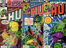 Incredible Hulk #262, 263, 266 NM+ 9.6 HIGH GRADE BEAUTIES! 1st App Glazier 1981