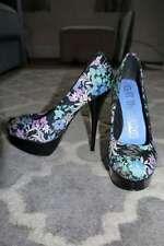 NEXT Black Floral Print Platform Heels Court Shoes NEW Party 4 Wedding Hols NWOB