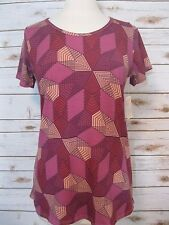 NWT LuLaRoe Classic T Tee Top Size S Small Geometric Print Multi Color