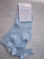 Beautiful Spanish Romany style Short Sky Blue Bow Socks by Kinder *UK made*