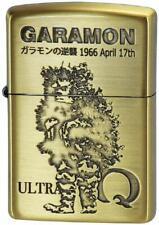 Zippo Oil Lighter Ultra Q Garamon Gold Brass Etching Tsuburaya Pro Anime Manga