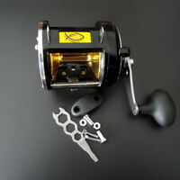 Big Game Fishing Reel Saltwater Casting Trolling Drum Reel Drag 25kg/55lbs