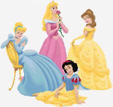 Princesas de Disney diseño 2 puntada cruzada contada Kit