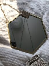 BRAND NEW Wall Hanging Gold Mirror Decor Modern Geometric Hexagon