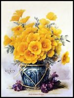 California Poppies - DIY Counted Cross Stitch Patterns Needlework embroidery