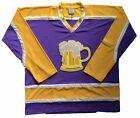 Custom Hockey Jerseys with a Beer Mug Twill Logo $59