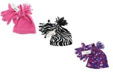Girl's Fleece Hat & Glove Set ~ New