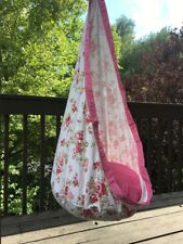Kids Hanging Pod Chair Swing Hammock Pink Rose
