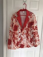 Ex hire Fancy Dress costumes - Red And White Blazer Size M/L