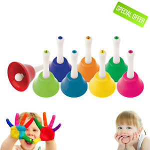 Sensory Educational Sound Toy Autism Special Needs Pack of 8 Music Bells