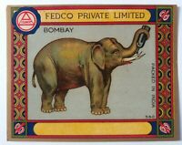 INDIAN VINTAGE TREAD MILL LABEL-FEDCO PRIVATE BOMBAY / SIZE-3.5X4.5 INCHS