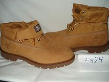 Timberland Men's Icon Basic Roll-Top Boots Shoes Wheat Leather Canvas Size 13