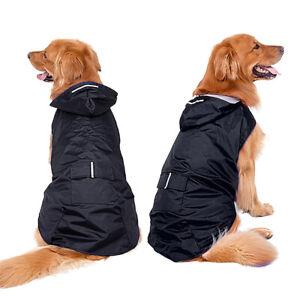 Waterproof Dog Raincoat Dog Rain Coat with Hood Reflective Coats for Labradors