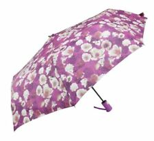 Cool Rainy Floral Printed Art 3 Folds Automatic Foldable Umbrella  (VIOLET)