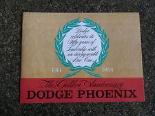 "1964 DODGE PHOENIX  BROCHURE ''RARE RHD AUST VERSION"" 100% GUARANTEE"