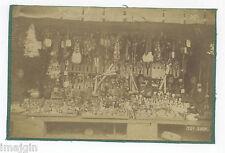 Ca. 1910 JAPANESE TOY SHOP ALBUMEN PHOTO SHOWING HUNDREDS OF DOLLS
