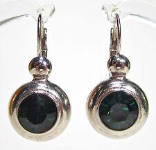 SoHo® Ohrringe Ohrhänger geschliffene Kristalle Strassstein ball emerald grün