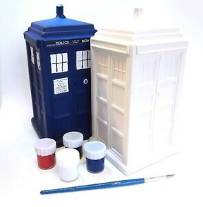 DOCTOR WHO TARDIS PAINT YOUR OWN MONEY BANK - BRAND NEW GREAT GIFT