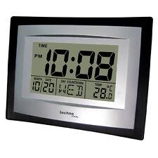Horloge Murale Quartz Techno Ws 8004 Date Température Interne Réveil Numérique