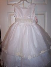 NWT TIP TOP KIDS SPECIAL OCCASION PETAL DRESS SIZE 6 WEDDING FLOWER GIRL EASTER