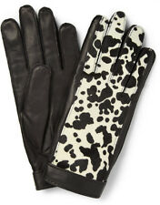 NWT BURBERRY PRORSUM $695 HAIR CALF LEATHER GLOVES SZ 8 MADE IN ITALY