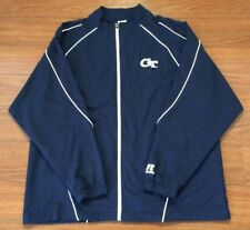Russell Athletic Large Blue Athletic Windbreaker Jacket Georgia Tech Logo NWT