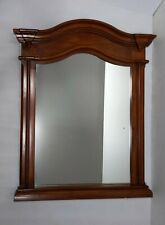 Solid Wood Arched Rustic Vintage Art Deco Style Wall Mirror