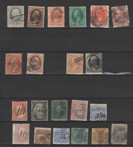 US lot used claccic stamps mixed quality