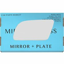 Left side Flat Wing door mirror glass for Volvo 440 460 480 1987-91 +plate