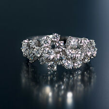 """FRED of Paris """"BLANCHE""""18K Cluster Diamond Ring. Stunning. Size 5.5 to 7.5"""